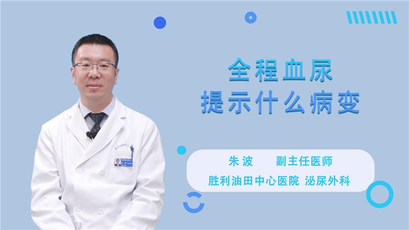 全程血尿提示什么病變