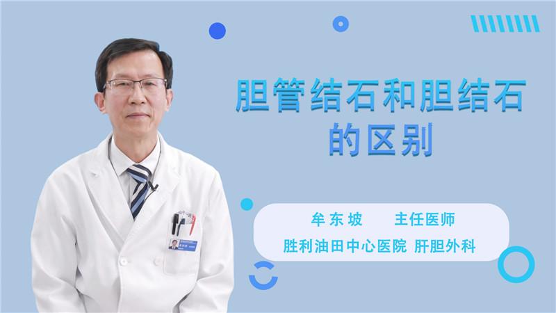 胆管结石和胆结石的区别