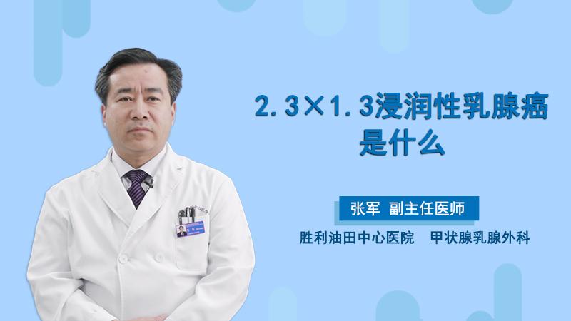2.3×1.3浸润性乳腺癌是什么