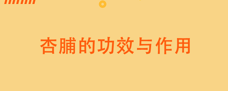 杏脯的功效与作用