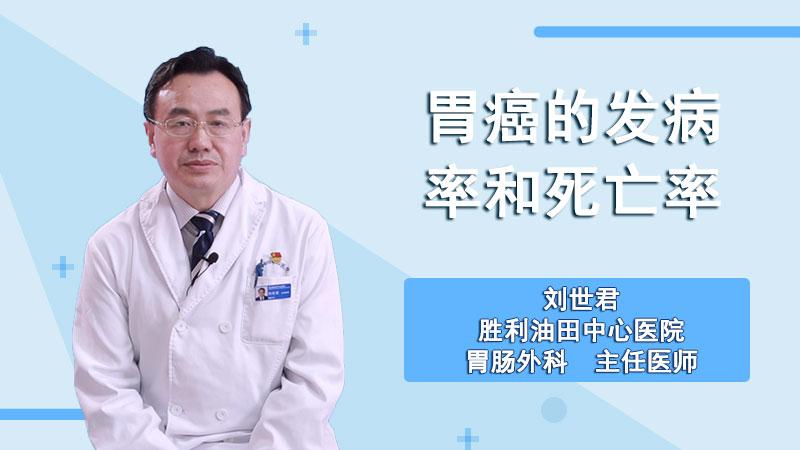 胃癌的发病率和死亡率