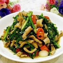 韭菜炒鸭肠