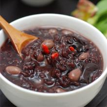 核桃莲子黑米粥