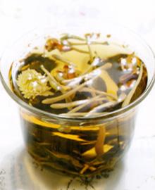 乌龙金银花减肥茶