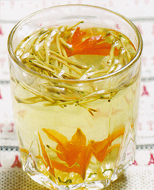百合金银花茶