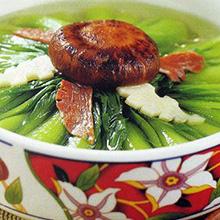 笋菇菜心汤