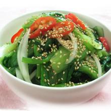芝麻炒小白菜