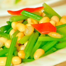 黄豆炒香芹