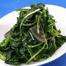 松花蛋炒菠菜