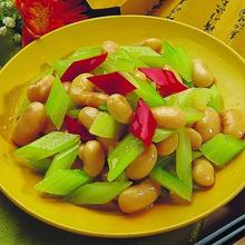 西芹拌芸豆