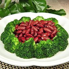 凉拌西兰花红豆