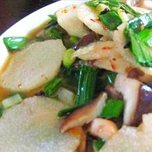 白菜香菇炒山药
