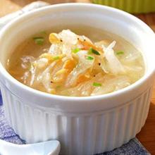 虾米茭白粉条汤