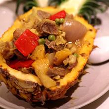 菠萝牛肉盅
