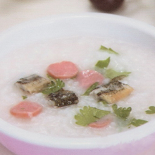 火腿泥鳅粥
