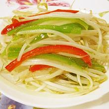 双椒黄豆芽