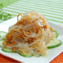 黄花菜拌海蜇