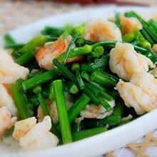 韭菜拌虾仁