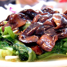 香菇扒白花菜