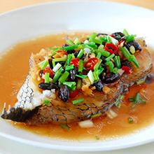 豆豉蒸鳕鱼