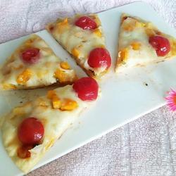 圣女果水果披萨