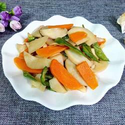 胡萝卜炒杏鲍菇