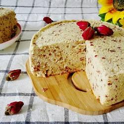 玫瑰燕麦戚风蛋糕