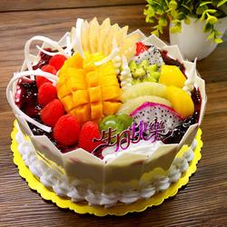 圣女果水果蛋糕