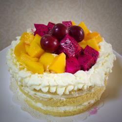 蒸奶油水果蛋糕