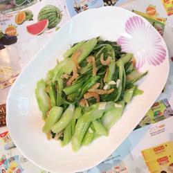 虾仁炒菜心