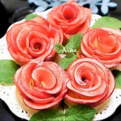 花朵苹果挞