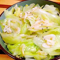 清炒虾米卷心菜