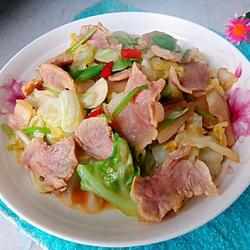 咸肉干锅卷心菜